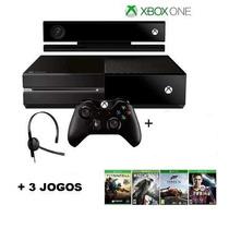 Xbox One 500gb+kinect+3jogo+1controle+12xs/juros+fretegratis