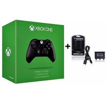Controle Xbox One Sem Fio + Bateria E Cabo Recarga