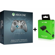 Controle Xbox One Halo 5 Locke + Bateria E Cabo Recarga