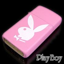 Zippo Original ~ Playboy Pink Bunny ~ Modelo Slim (+fino)