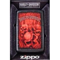 Zippo Original Harley Davidson Red Skull - Oficial