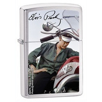 Isqueiro Zippo Elvis Presley Brushed Chrome Lighter 28074