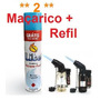 2 Mini Maçarico + Refil De Gás Oferta Frete Gratis