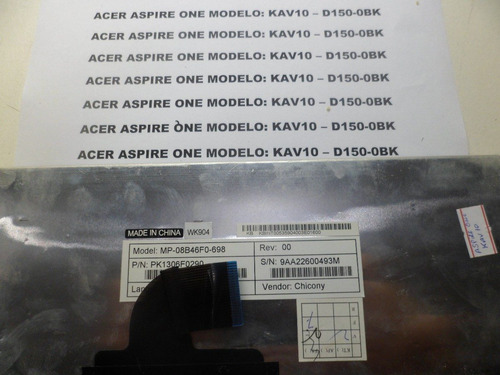 Teclas Avulsas Do Acer Aspire One Modelo Kav10-d150-0bk (2 Original