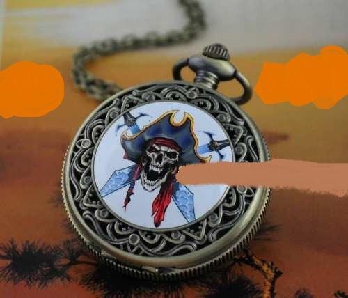 Relogio Caveira Pirata Original