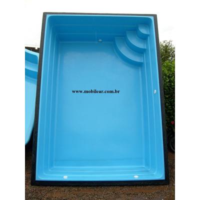 Piscina de fibra litros tamanho 3 40 x 2 40 x 0 90 for Piscinas de 6000 litros