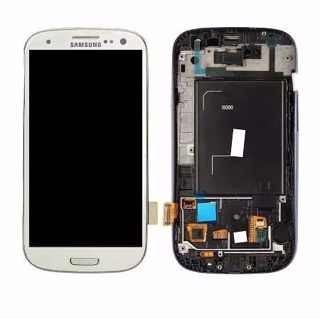 Tela Display Touch Frontal Galaxy S3 Neo/9300i Branco/azul