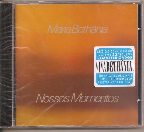 Cd Maria Bethânia - Nossos Momentos  - Remasterizado Original