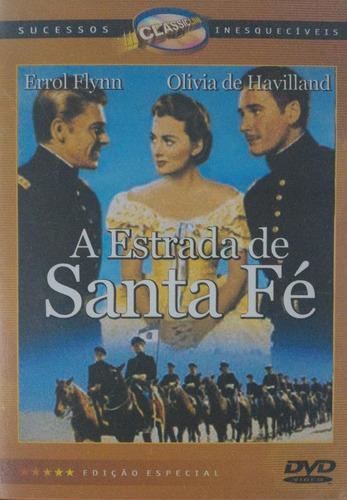 Dvd A Estrada De Santa Fé Errol Flynn - 1y Original