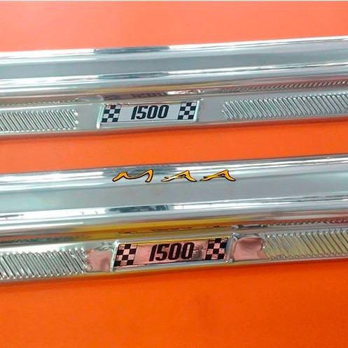 Soleira Estribão De Porta Em Aluminio Para Fusca 1500 Todos Original