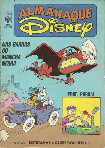 Almanaque Disney 192 - Abril - Bonellihq Cx212 N20 Original