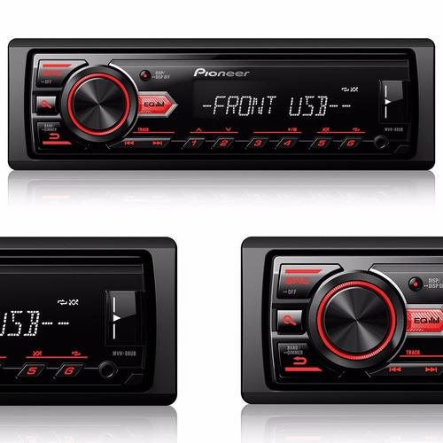 Auto Radio Pioneer Som Automotivo Mp3 Usb Am Fm Display