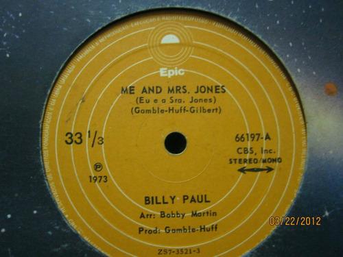 Billy Paul Compacto Me And Mrs. Jones 1973 Original