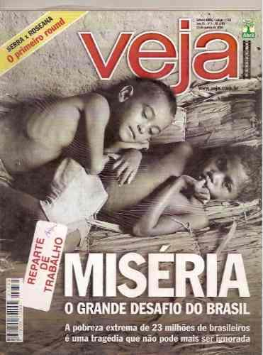 Revista Veja - Miséria. O Grande Desafio Do Brasil