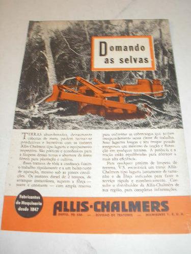 (  L - 290/ P  ) Propaganda Antiga Trator Allis-charmers Original