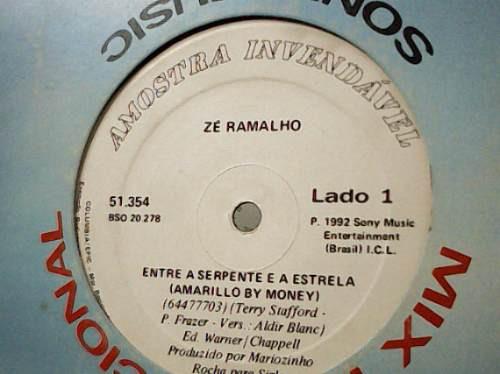 Zé Ramalho Entre A Serpente E A Estrela Lp Vinil Single 1992 Original