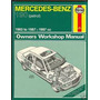 Manual Haynes De Mercedes W201 190e 2.0 4 Cil 1983 A 1987