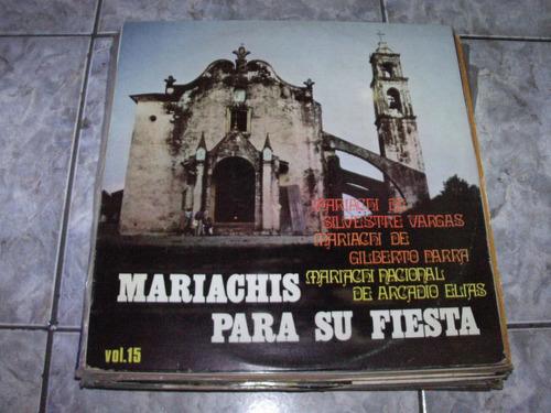 Lp Mariachis Para Su Fiesta Vol 15 Original