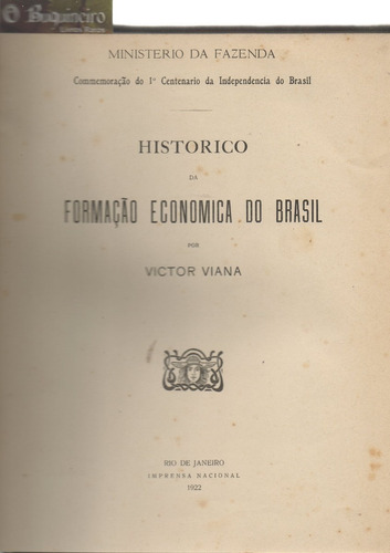 Histórico Da Formação Econômica Do Brasil - Victor Viana Original