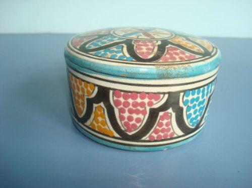 Porta Joia De Ceramica Do Marrocos Original