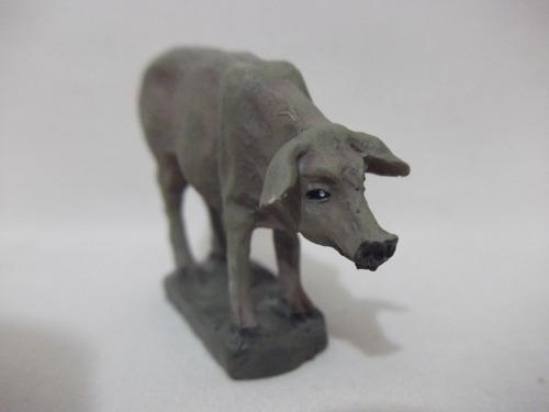B. Antigo - Porco Figura De Presépio Em Resina Espanhola Original