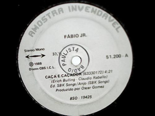Fabio Jr Caça E Caçador Lp Vinil Single Cbs 1988 Original