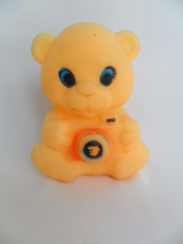 Brinquedo Antigo De Vinil Boneco Urso Ursinho Coleção Original
