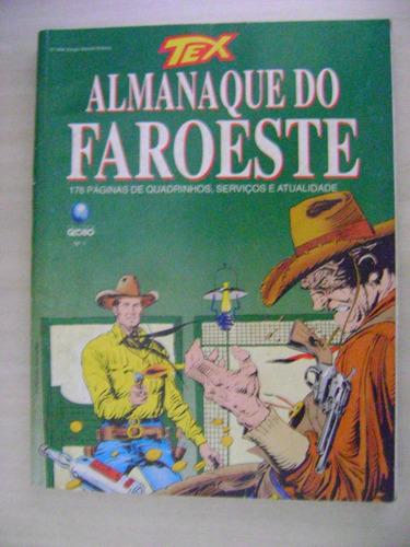 Tex Almanaque Do Faroeste Nº 1 Agosto De 1996 Editora Globo Original