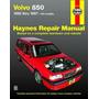 Manual Haynes De Volvo 850 Modelos De 1992 A 1997 Sedan E Sw