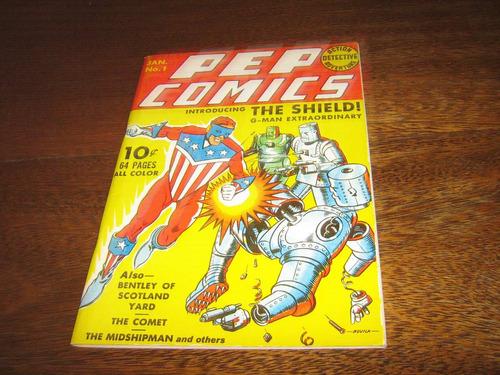 Coleção Flashback Nº 7 Pep Comics C/ Shield  Em Inglês Original