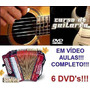Aulas De Acordeon Guitarra Violão Em 6 Dvds Wx