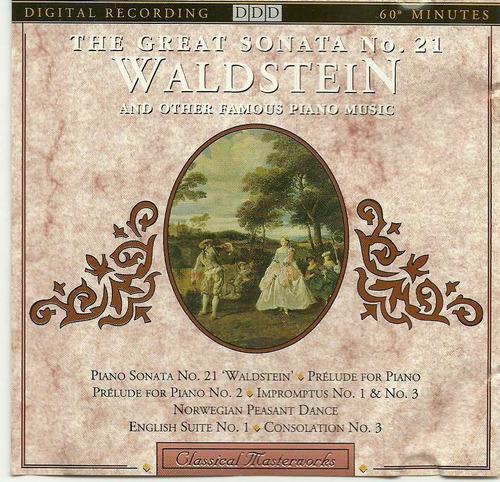 The Great Sonata N 21 Waldstein - Cd Importado  Original