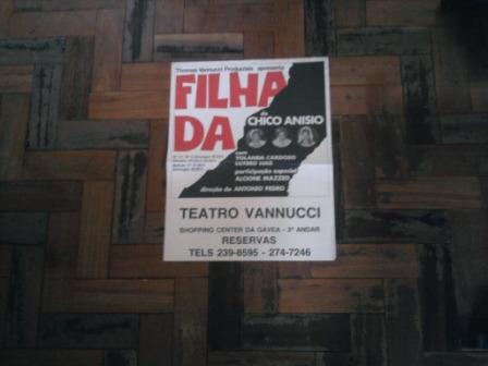 Cartaz Da Peça A Filha Da 1978 Chico Anysio Alcione Mazzeo Original