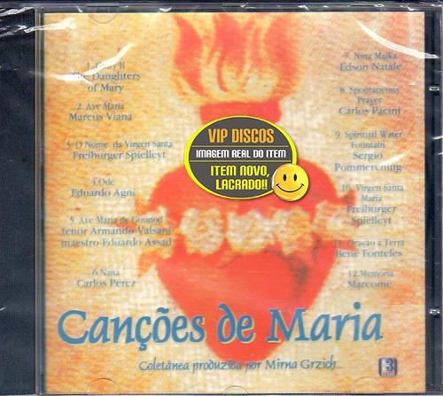 Cd Canções De Maria - Mirna Grzich - Novo Lacrado Raro Original