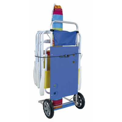 Carrinho praia em aluminio vira mesa r 153 50 em mercado livre - Carro porta sillas playa ...