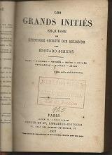 Les Grands Initiés - Edouard Schuré - 1921 Original