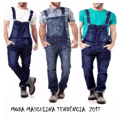 Jardineira jeans masculina macac o estilo promo r 189 for Jardineira masculina c a