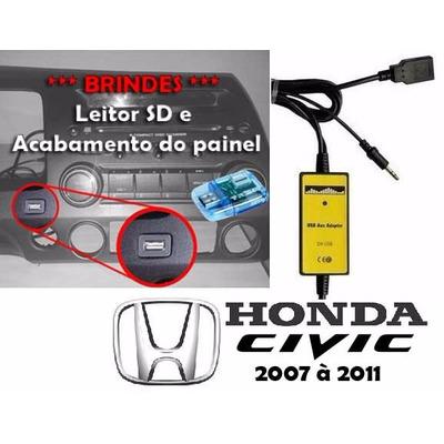 Adaptador Interface Usb Aux Para Honda New Civic 2007