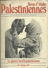 Revue D´études Palestiniennes N. 7 - Automne 1982 Original
