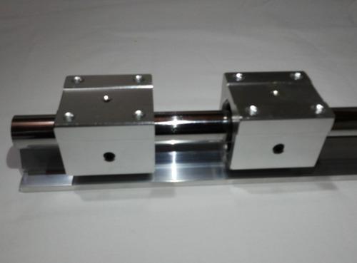 Guia Linear Eixo Retificado Com Base De Alumínio