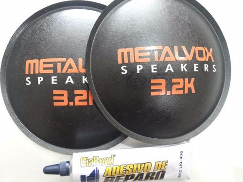 2- Escudo Protetor Para Falante Metalvox 3.2k 135mm + Cola Original