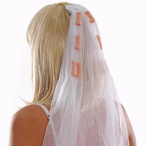 Véu De Noiva Com Pênis