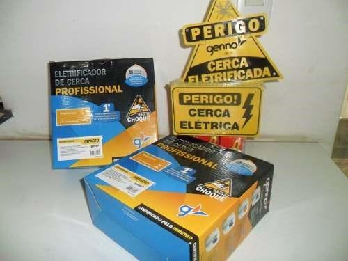 Kit Cerca Eletrica Haste 6 Isoladores 250 Metros Com Alarme Original