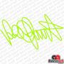 Adesivo Assinatura Valentino Rossi Vr46 46 Motogp Moto Gp