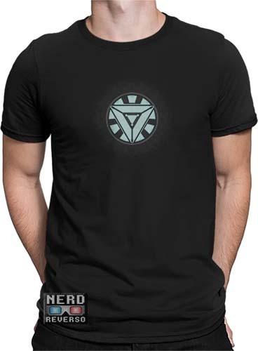 Camisetas Tony Stark Reator Arc Homem De Ferro Iron Man Hq