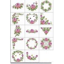 Matriz Desenho Bordado Rosas Flores Arranjos Delicados A Venda Em