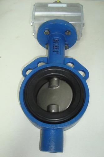 Válvula Borboleta 12 Wafer 150 Lbs Com Atuador Pneumatico Da