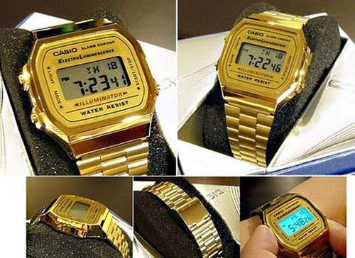 09990d2b179 Comprar Casio Unisex A168 Retrô Vintage Dourado A168wg-9wdf C  Nf-e ...