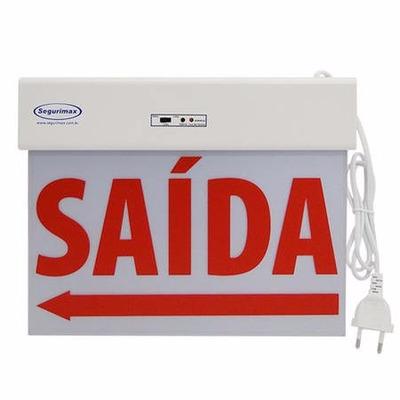 Encontre Luminária Placa Sinalização Saída Emergência Led Face Simples. danielEletro é especializada em Iluminação, com preço baixo e qualidade, Confira!