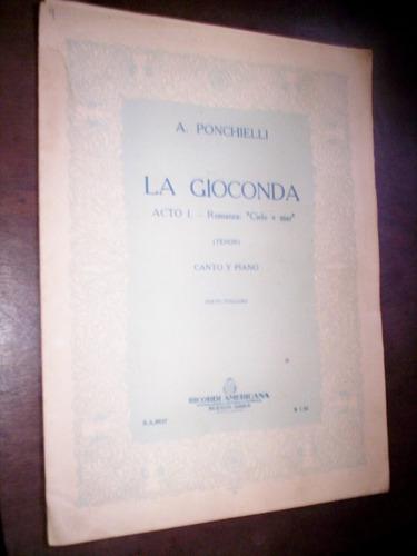 Partitura La Gioconda A Ponchielli 1948 Original